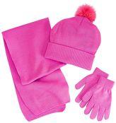 Berkshire Girls 4-16 3-pc. Solid Scarf, Hat & Gloves Set