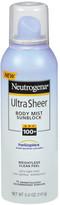 Neutrogena Ultra Sheer Body Mist Sunblock SPF 100