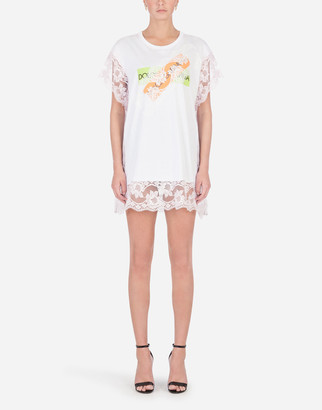 Dolce & Gabbana Jersey T-Shirt With Applique