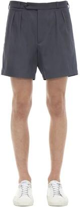 Rochas Virgin Wool & Cotton Gabardine Shorts