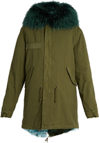 MR & MRS ITALY Fur-lined canvas parka