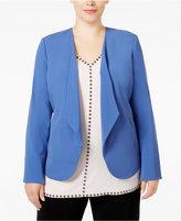 Alfani Plus Size Draped Blazer, Only at Macy's