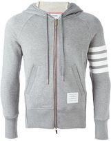 Thom Browne striped sleeve hoodie - men - Cotton - 1