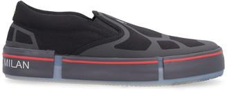 Marcelo Burlon County of Milan Printed Canvas Slip-on Sneakers
