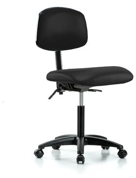 Task Chair Perch Chairs & Stools Upholstery Color: Black, Arms: Not Included
