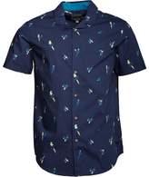 Bench Mens Parrot AOP Short Sleeve Shirt Navy