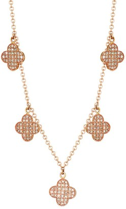 Nina Gilin 14K Rose Gold & Diamond Flower Station Necklace