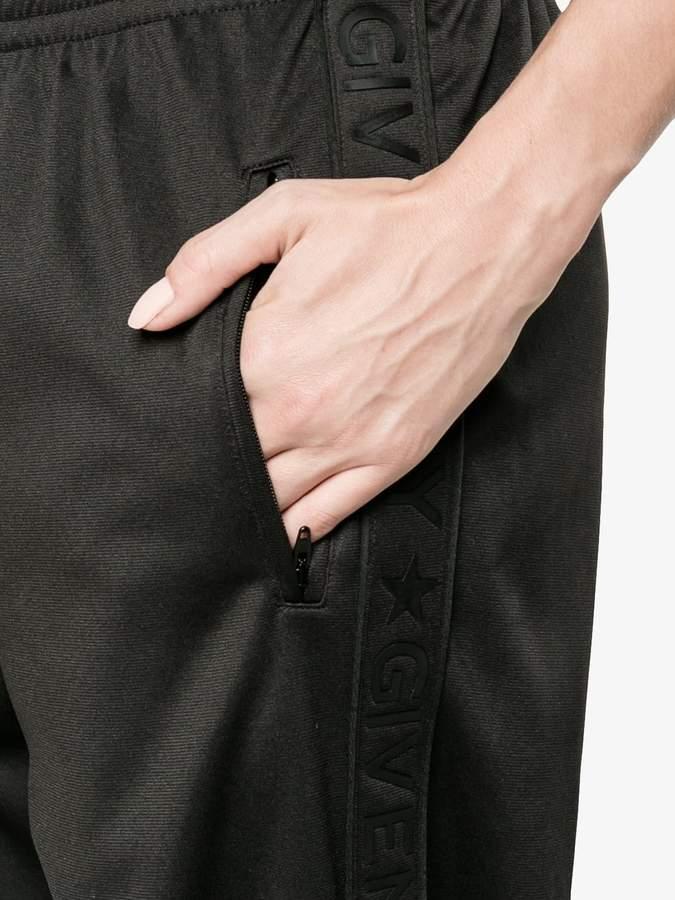 Givenchy logo trim track pants