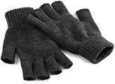Beechfield Unisex Plain Basic Fingerless Winter Gloves (S/M)