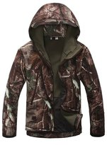 Noga Men Outdoor Hunting Camping Coats Soft Shell Trees Camouflage Jacket Hoodie