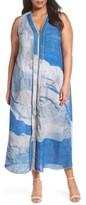 Nic+Zoe Plus Size Women's Moonlight Zip Front Maxi Dress