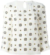 Diane von Furstenberg embellished three-quarters sleeve blouse - women - Silk/Polyester/Viscose - 8