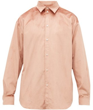 Y/Project Velvet Shirt - Mens - Dusty Pink