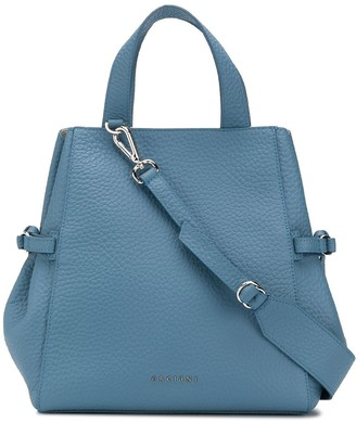 Orciani Logo Plaque Tote Bag