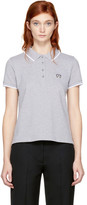Kenzo - Polo gris Tiger Crest