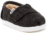Toms Wool Herringbone Faux Shearling Slip-On Shoe (Baby, Toddler, & Little Kid)