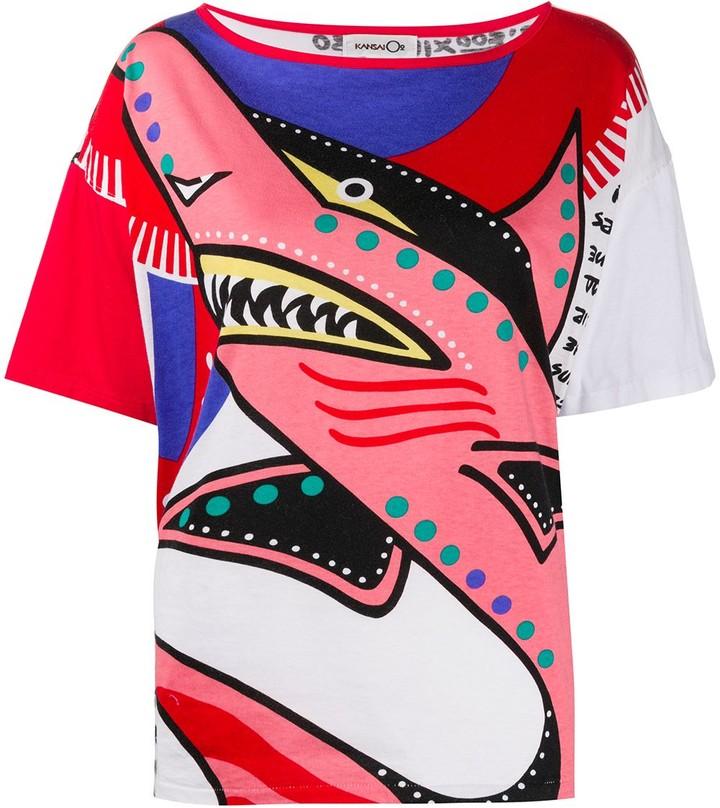 Kansai Yamamoto Pre-Owned '1990s Shark T-shirt