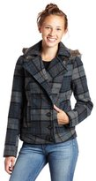 Jack Juniors Jeryl Hooded Plaid Jacket