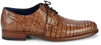 Mezlan Hercules Crocodile Leather Derbys