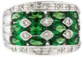 Ring Platinum Tsavorite & Diamond Cocktail