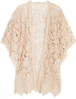 Anna Sui Romantique Crocheted Lace Kimono - Cream