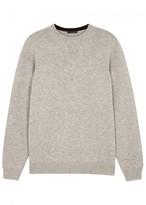 Pal Zileri Oatmeal Wool And Cashmere Blend Jumper