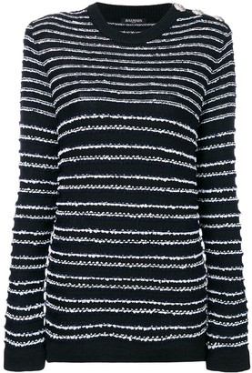 Balmain Striped Fitted Sweater