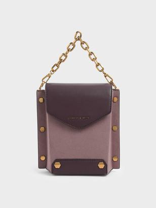 Charles & Keith Stud Detail Textured Bag
