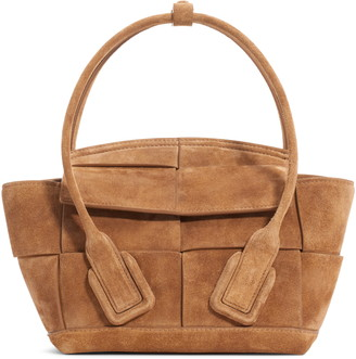 Bottega Veneta The Arco 33 Intrecciato Suede Top Handle Bag