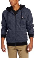 Southpole Men's Fashion Full Zip Sherpa Lined Hoodie with Epaulettes and Pocket Details