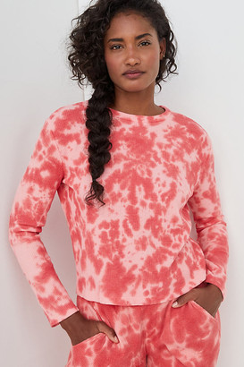 Janelle Waffle Tie-Dye Top By Saturday/Sunday in Assorted Size S