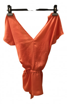 Carven Orange Synthetic Tops