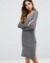 Vero Moda V Neck Long Sleeve Midi Dress