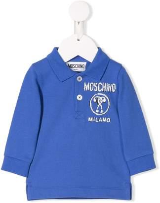 Moschino Kids printed logo polo top