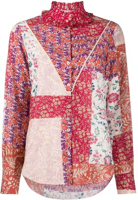 Forte Forte Floral-Print Long-Sleeve Blouse