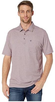 Travis Mathew TravisMathew Sommelier Polo (Heather Tawny Port) Men's Clothing