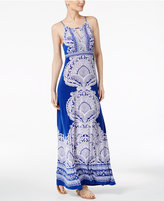 INC International Concepts Petite Printed Embellished Maxi Dress, Only at Macy's