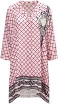 Mantu Pink Printed Silk Shirt Dress