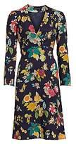 Etro Women's Floral Bell-Sleeve Wool & Silk Dress