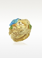 Les Nereides Martin Pecheur Secret Ring w/Nest