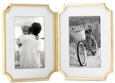 """Kate Spade Sullivan Street Collection 4"""" x 6"""" Gold-Plated Hinged Double Frame"""