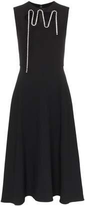 Christopher Kane embellished cut-out midi dress