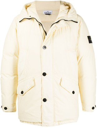 Stone Island Feather Down Hooded Jacket