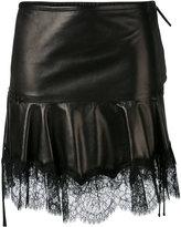 Roberto Cavalli fringed skirt - women - Silk/Leather/Polyamide/Viscose - 42