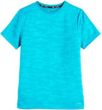 Tek Gear Boys 4-20 DryTek Embossed Camo Tee in Regular & Husky