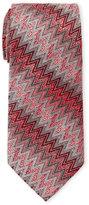 Missoni Red Zig Zag Pattern Silk Tie