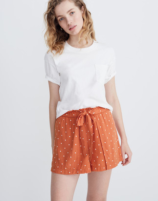 Madewell Drapey Pull-On Shorts in Polka Dot