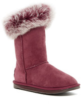 Australia Luxe Collective Foxy Short Hidden Wedge Genuine Fox Fur and Shearling Boot