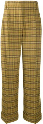 Acne Studios Wide-Leg Check Trousers