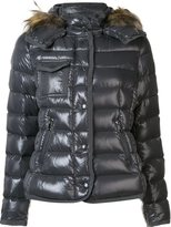 Moncler 'Armoise' padded jacket - women - Feather Down/Polyamide/Racoon Fur/Goose Down - 0